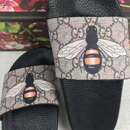 Wholesale Best Outdoor Sandals - 2017 Designer best Sandals hotsale mens fashion print leather slide sandals summer outdoor beach causal slipper for mens