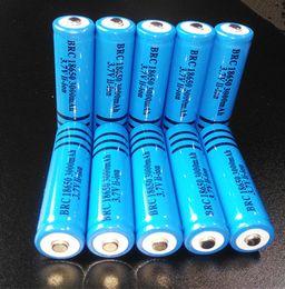 Wholesale Li Ion Battery For Flashlight - 18650 Battery 3.7V 3000mAH Li-ion BRC Rechargeable 18650 Batteries Lithium for Flashlight Torch Headlamp Laser