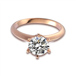 Wholesale Ring Gold Married - 6 ungual rings china female crystal ring to marry ring fashion jewelry wholesale anniversary wedding rings titanium rings for women