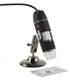 2019 microscópio preto Atacado-Novo Portátil USB 8 LED 500X 2MP Microscópio Digital Câmera de Vídeo Endoscópio Preto de Alta Qualidade Nova marca microscópio preto barato