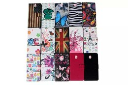 Wholesale Nexus Book Cover - Cartoon Flower Owl Flag Butterfly Zebra Tower Wallet Leather Pouch Case For Huawei Nexus 6P Nexus 7 Kickstand Credit Card Book Skin cover