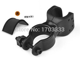 Wholesale Bike Flashlight Clamp Holder - 360 Swivel Wholesale Cycling Grip Mount Bike Clamp Bicycle Flashlight LED Torch Light Plastic bicycle Holder Clip Free shipping