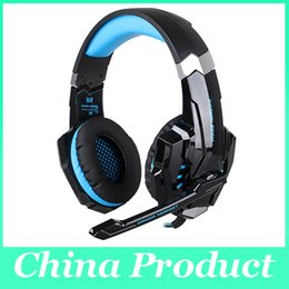 Wholesale Playstation Red - Each G9000 Led Gaming Headphone for PlayStation 4 PS4 iPhone Samsung 3.5mm Headset With Microphone 010008
