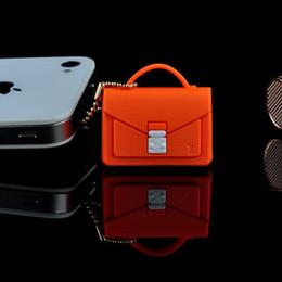 Wholesale Designers Headphones - Wholesale-Wholesale 10PCS lot women handbag dust plug for cell phone iphone xiaomi cute mini bag headphones cap designer name brand tiems