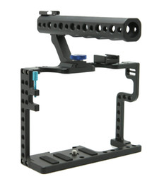 Wholesale Top Handles Dslr - Freeshipping RU Warehouse! DSLR Camera Cage With Top Handle Grip For Panasonic Lumix GH5 Camera Rig