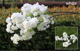 """Wholesale Cherry Display - Four Branches Each Bouquet Simulation Cherry Blossom 1 m(39"""") Long Wedding Arch Decorative Flower Home Living room Decor"""