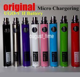 Wholesale Ecigarette Usb - Wholesale UGO Ecigarette battery Mricro USB Pass though battery with 650mh 900mah colorful electronic cigarette ugo-v ii battery