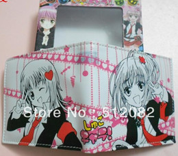 Wholesale Shugo Chara Amu - Wholesale-Shugo Chara Hinamori Amu Sweet Red Heart Wallet Purse Japan Anime Game Gift In Gift Box Cosplay Free Shipping Wholesale