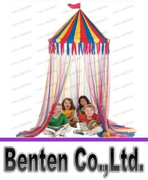 Wholesale Foldable Canopy Tent - nylon big top canopy tent kid play tent hanging circus canopy tent LLFA79