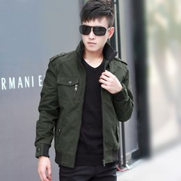 Wholesale Spring Military Jacket Men - 2015 new men's jacket tide Slim military uniform outdoor style for spring and autumn coat