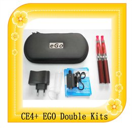Wholesale E Cigarette Ce4 Dual Kit - Ego double starter kits electronic cigarette CE4S CE4+ atomizer 650mah 900mah 1100mah battery CE4+ Ego Double Kits e Cigarette Dual kits