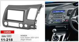 Wholesale Honda Dash Kit - CARAV 11-218 Top Quality Radio Fascia for HONDA Civic Sedan 2007-2011 (Right Wheel) Stereo Fascia Dash CD Trim Installation Kit