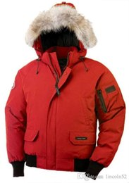 Wholesale Men S Puffer Jacket - High Quality CANADA New Winter Men's Down puffer jacket Casual Brand Hoodies Down Parkas Warm Ski Mens Coats Black Red 200