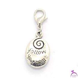 Wholesale Glass Locket Dangles - Wholesale-Free shipping Fashion Follow Your Heart floating dangles charms for Living Glass lockets