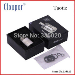 Wholesale Electronic Cigarette Catomizer - Original Cloupor Taotie RDA Atomizer 5ML Electronic Cigarette Catomizer Airflow Control DIY Resistance RDA Dripping Clearomizer