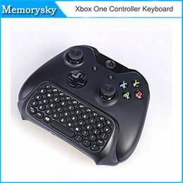 Xbox-tastatur online-Bluetooth Mini Wireless Chatpad Nachricht Game Controller Tastatur für Xbox One Controller mit 2.4G Empfänger 010211