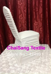 Wholesale Spandex Ruffle Chair Covers - High Quality 10pcs White Ruffled Lycra chair cover, Spandex chair cover for Wedding Events&Party Decoration