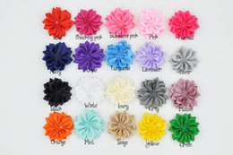 Wholesale Hiar Flower - Mini Satin Flower Layered Flower Without Hiar Clip Baby Hair Accessory 200pcs lot