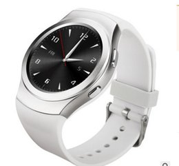 Wholesale Bluetooth Communication Android - KW18 card bluetooth circular screen adult can monitor the heart rate MTK2502C band communication function smart phone watch