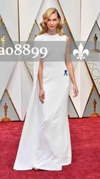 92e65b5930 white dress oscars Desconto 2017 Elegante Longo Formal Evening Prom Caped Branco  Oscars Vestidos de Festa