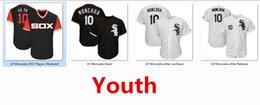 Wholesale Red Sox Cooperstown - Youth Kids Child White Sox 10 Yoan Moncada Baseball Jersey Black White Gray Grey Green Salute Cooperstown Navy Team Logo