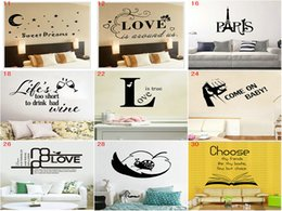 Wholesale Country Style Christmas Decorations - DHL Free 30 styles Cartoon letter Wall stickers home decal Cartoon Wallpaper Kids Party Decoration Christmas Wall Art
