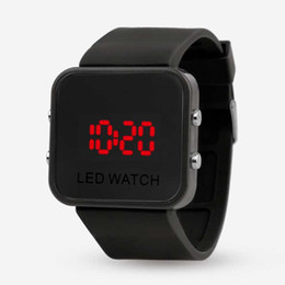 Wholesale Mirror Battery - 2016 Hot LED plastic mirror Watches Boys girls leisure children electronic watch