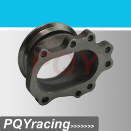 """Wholesale T25 Flange - J2 RACING STORE-Turbocharge Oulet Downpipe 3"""" V-band Stainless Steel 304 Cast Flange Adapter For T25 T28 GT25 GT28 PQY4828"""