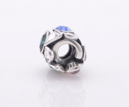 Wholesale Diy Jewellery Christmas Charms - Floating charm silver 925 Christmas Gift DIY 925 Sterling charms With Colorful Shiny Rhinestone Fit Bracelet diy Jewellery YZ784