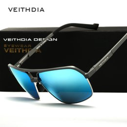 Wholesale Magnesium Men - Mens Sunglasses Brand Designer Polarized 2015 Fashion Bright Reflective Aluminum Magnesium Glasses Square Outdoor Drive Oculos