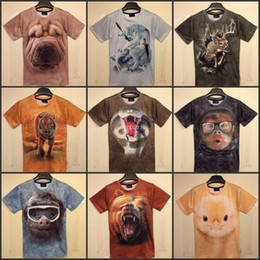Wholesale Kind Sleeves - Sale fashion men t shirt kinds of animals ctue monkey blouse tops clothes t-shirts Harajuku snake wolf 3d Print for women