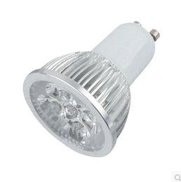 Wholesale Led Spot 4x3w - 4W GU10 E27 Dimmable LED Spotlight No 4x3W Real 4x1W GU 10 Bombillas Spot Lights with 4leds Bulbs Spotlights Downlight 110V 220V CE ROSH