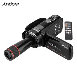 Wholesale Optical Rotation - Christmas gift HDV-Z8 1080P Full HD Digital Video Camera Camcorder 16* Digital Zoom with Digital Rotation LCD Touch Screen