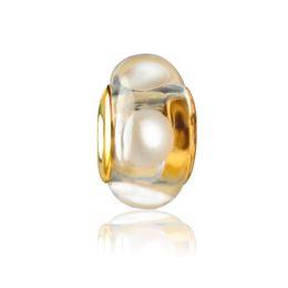 Wholesale pandora style murano beads - Murano Glass Charm Bead Gold Plated Fashion Women Jewelry Stunning European Style For Pandora Bracelet Necklace PANMB040
