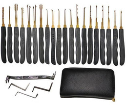 Wholesale Lock Pick Tool Kit - Goso 20pcs Single Hook Lock Pick Set Locksmith Tools Lock Pick Kit for home and car Lock picks with Y tension wrenchs