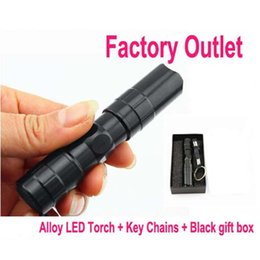 Wholesale Led Keychain Flashlight Waterproof - Keychain Super Mini 3W 1*AA Led Handy Waterproof Flashlights Torch For Outdoor Camping HikE