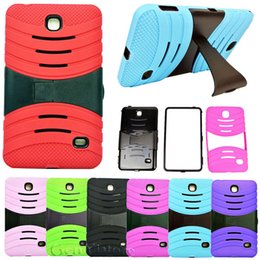 """Wholesale Protective Hard Case Tablet - Hybrid Silicone Rubber Gel shockproof Case Cover For SAMSUNG Galaxy Tab 4 7.0"""" 7"""" Tablet SM-T230 T231 Stand Hard big stand"""