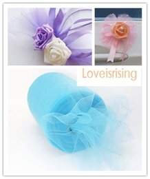 "Wholesale Wholesale Aqua Tutus - New Arrivals- 4 Rolls 6""x100y Aqua Blue Color Tulle Rolls Spool Tutu DIY Craft Wedding Banquet Fabric Wedding Car Decor-Free shipping"