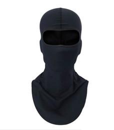 Wholesale Headgear Face Mask - black Motorcycle Balaclava Sports Biker Motorbike Neck Warmer Sun-protection Headwear Full Face Mask Headgear Free Shipping