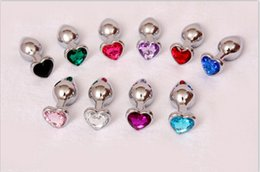 Wholesale New Butt Plug Designs - New Design Beautiful Heart Shape Jewelry Metal Anal Plug Butt Booty Beads Anus Sex Toys Cheap Price