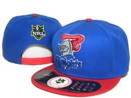 Wholesale Design Snapbacks Cheap - Cheap NRL Newcastle Knights blue red Snapback Sports Caps New Design Nrl Snapbacks Fashion Men's Caps All Kinds of Hats Allow Mix Order DD