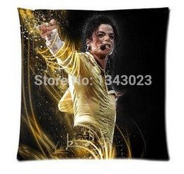 Wholesale Michael Jackson Pillowcase - Famous Singer Michael Jackson Funny Quotes Zippered Pillowcase Rectangle Size 18X18 Inch Twin Sides Printing