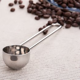 Wholesale Stainless Steel Coffee Spoons - Durable Stainless Steel Coffee Tea Bean Spoon Teaspoon With Long Handle Measuring Stirring Spoons Home Kitchen Bar