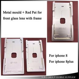 laminación iphone Rebajas Vidrio frontal con molde de marco Laminación de LCD Molde suave de silicona para iPhone 8 4.7 / 8plus 5.5 Molde de marco de prensa en frío