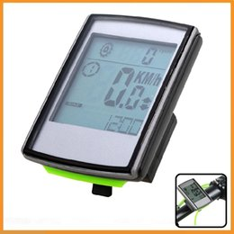 Wholesale Bike Heart Rate - Top Quality Cycling Computer With Cadence & Heart Rate Monitor Wireless Odometer Speedometer LCD Display Bicycle Bike Speedometer