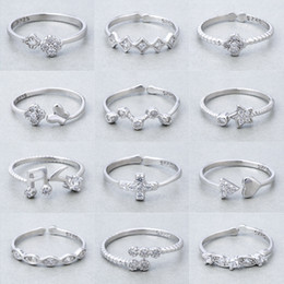 Wholesale Order Asian Fashion - Mixed Order 20pcs lot 925 Sterling Silver Rings fashion jewelry party style Top quality Christmas gift free shipping