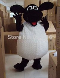 Wholesale New Style Mascot Costumes - Wholesale-New Professional New Style Sheep Lamb Fancy Dress Mascot Costume Adult Size