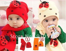 Wholesale Child Baby Hat Twinset - Wholesale-Free Shipping 100% Quality Beatles Baby Cap Children Hat & Scarf Twinset Best For Winter Gift, N05