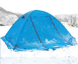 Wholesale Topwind Plus - Good quality Flytop double layer 2 person 4 season aluminum rod outdoor camping tent Topwind 2 PLUS with snow skirt
