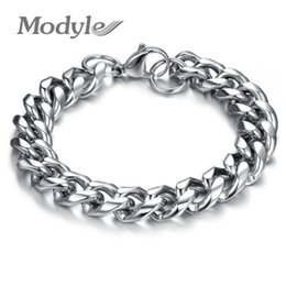 Wholesale Thick Steel Chain - Modyle Stainless Steel Thick Chunky Chain Bracelet For Man Top Grade Fashion Men Jewelry